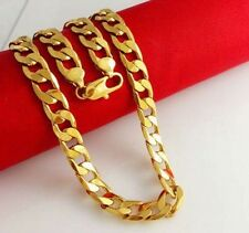 24K Yellow Gold Filled Jewelry Chain Necklace+Bracelet Set