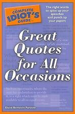 Complete Idiots Guide To Great Quotes For All Occasions
