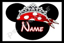 4x6 Disney Cruise Stateroom Door Magnet - PIRATE WITH TIARA - PERSONALIZED
