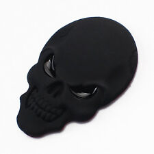 Skull Black 3D Adhesive Car Sticker Decal Emblem Badge Alloy 50mm x 34mm