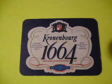 Beer Coaster: Kronenbourg 1664 Obernai France Brewery ~Add'l Coasters $0.25 S&H