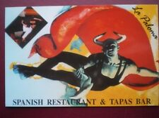 POSTCARD  LA PALOMA SPANISH RESTAURANT & TAPAS BAR - PAINTING BY JOSE ALMENAR