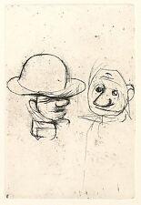 Hans Theo giudici-bambini quasi notte-Maschera con rigidità del Cappello-ACQUAFORTE 1936