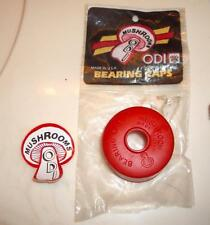 NOS Vintage Old School BMX ODI Red Crank Bearing Dust Cap with Mushroom Sticker