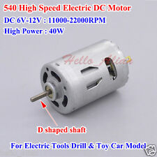 DC 6V-12V 22000RPM High Speed Large Power 540 DC Motor for Electric Tools Drill