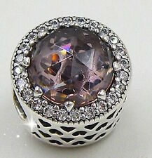 PINK RADIANT BRILLIANCE 925 Sterling Silver Solid European Charm Bead
