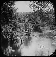 Glass Magic Lantern Slide THROOP THE STOUR C1920 PHOTO RIVER NATURE