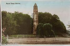 Round Tower Co Antrim Postcard Northern Ireland Irish.