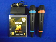 ps3 SINGSTAR MOTOWN + 2 WIRELESS  Official Mics Microphones Playstation Game PAL