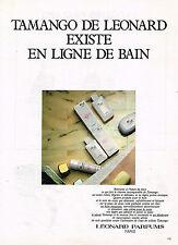 PUBLICITE ADVERTISING 045 1981  LEONARD parfums  LIGNE BAIN TAMANGO