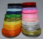 Sheer Woven Edge Organza Ribbon - 50 yards - widths of 6, 10, 12, 15 and 20 mm