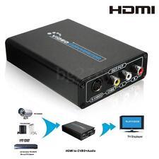 HDMI to S-Video CVBS 3 RCA AV Composite R/L Audio Adapter Converter HDTV 1080p
