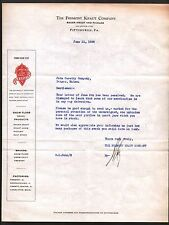 Fremont Kraut Co Juice Pickles Stock Pittsburgh PA 1930 Vintage Letterhead Rare