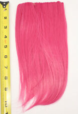 10'' Long Clip on Bangs Deep Pink Cosplay Wig Hair Extension Accessory NEW