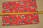 "BTHY, 42"" Wide, Dogs & Bears in Winter Dress on Christmas-Red Cotton, M1993"