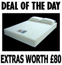 Small 4ft Double Visco Elastic Memory Foam Mattress+Free Pillows + FREE Delivery