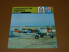 LOCKHEED P-38 LIGHTNING 1941-1945 US AIR FORCE AVIATION FICHE WW2 39-45