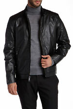 Andrew Marc Sanderson Black Motocross Quilted Leather Jacket Size S NWT $550