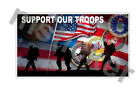 2x Support our Troops Sticker Decal Car Truck Bumper USA Army Navy Air Force
