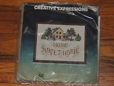 "CREATIVE EXPRESSIONS HOME SWEET HOME CROSS STITCH KIT #X7106 11"" x 14"""