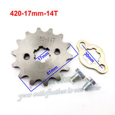 420 14 Tooth 17mm Front Engine Sprocket For ATV Pit Dirt Bike 50 70 90 110 125cc