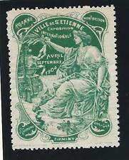 de ville de ST Etienne Vignette pour l' Exposition internationale de 1904-Verte