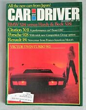 Car & Driver Dec 1980 - Porsche 928 - BMW 528i - Honda Civic - Datsun 810