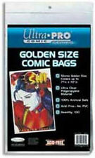 100 Ultra Pro Golden Size  Storage Bags  Brand New Factory Sealed
