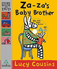 Za-Za's Baby Brother Children's Reading Picture Story Book & DVD by Lucy Cousins
