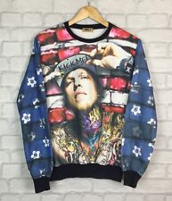 MENS VINTAGE RETRO HIPSTER SWAG GANGSTER TATTOO DOPE PRINT JUMPER SWEATER XS-S
