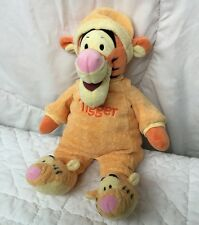 "Tigger Jammies Plush Winnie Pooh Tiger Footed Pajama Outfit 15"" Doll Toy Orange"