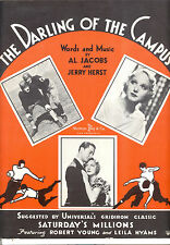 "SATURDAY'S MILLIONS Sheet Music ""Darling Of The Campus"" Robert Young FOOTBALL"