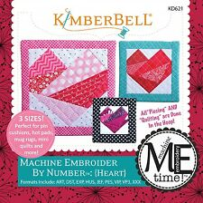 MACHINE EMBROIDER BY NUMBER HEART MACHINE EMBROIDERY CD, From Kimberbell NEW
