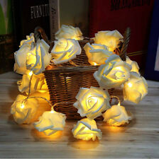 20LED Rose Flower String Fairy Light Romantic Wedding Bedroom Decor lamp new