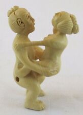 Erotic Man and Woman Wood Carving  JZ-0447