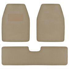 SUV Van Car Floor Mats in Medium Beige - Quality Husky Carpet Rug 3pc w/ Liner
