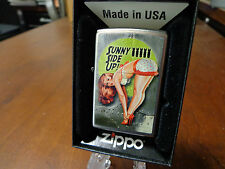PINUP GIRL SEXY SUNNY SIDE UP NOSE ART WWII DRIBEN ZIPPO LIGHTER MINT IN BOX