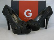 Guess Size 8 M Carlina Black Open Toe Heels New Womens Shoes