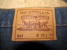 Vintage Men's Levi's 517 jeans Boot Cut ? Orange Tab 38x30 Made USA Maybe NWT?
