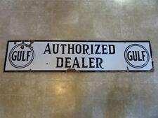 Vintage Porcelain GULF Dealer Gas Station Sign   Antique Auto Oil Service 8268