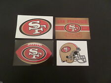 LOT OF 4- DIFFERENT SAN FRANCISCO 49ERS NFL APPROVED BRAND NEW STICKERS