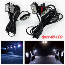 8pcs Pickup Truck Bed/Tonneau Cover/Cargo Box Bright White Glow 48-LED Light Kit