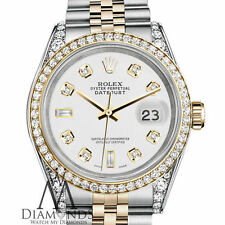 Ladies Rolex Stainless Steel and Gold 26mm Datejust Watch White 8+2 Diamond Dial