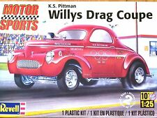 Revell Monogram 1:25 K.S. Pittman Willys Drag Coupe Car Model Kit