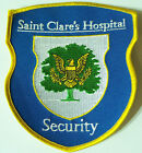 VINTAGE ST CLARE'S HOSPITAL SECURITY USA EMBROIDERED PATCH WOVEN CLOTH SEW BADGE