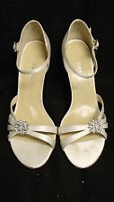 Z914 GRACE CRYSTAL F93434 WHITE HIGH HEEL WEDDING BRIDAL SHOES 11  $130