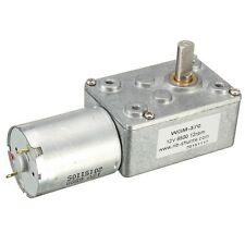 12RPM 370 Worm Turbo Gear Motor Right Angle Gear DC Motor Metal Gearbox DC12V