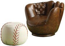 Crown Mark Baseball Glove Chair/Ottoman Baseball Glove