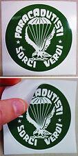 "Adesivo ""Cp. Comando SORCI VERDI / 186° RGT. PARACADUTISTI FOLGORE"" - (D.cm.9)"