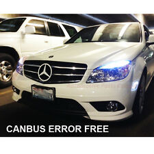 MERCEDES C-CLASS W204 HID XENON ICE WHITE CREE LED SIDELIGHT x4 BULBS ERROR FREE
